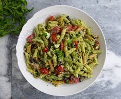 mitsides cold tuna and pasta salad with parsley coriander and