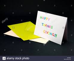 message card for your family and friends happy thanksgiving stock