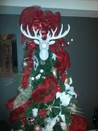 Christmas Deer Head Decorations by Deer Antler Tree Topper Made It Myself Pinterest Tree