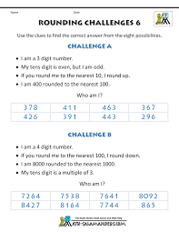 rounding numbers worksheet rounding challenges
