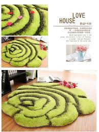 Round Flower Rugs 90cm Round 3d Flower Carpets For Home Living Room Stretch Yarn