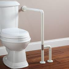 pickens wall to floor grab bar bathroom marion off white loversiq