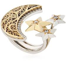 gold rings star images Best 25 moon and star ring ideas star jewelry jpg