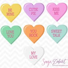 valentines hearts candy clip vector s day conversation candy hearts