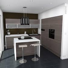 cuisine ilot central cuisson cuisine moderne avec ilot central cuisine contemporaine bois foncé