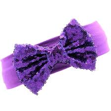 headband with bow purple sequin bow headband