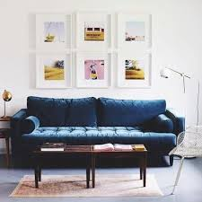 Blue Sofa In Living Room Sven Pacific Blue Sofa Sofas Article Modern Mid Century And