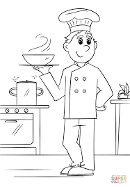 chef coloring page free printable coloring pages