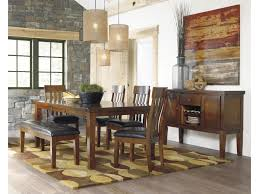 dining room table with butterfly leaf signature design by ashley ralene casual rectangular butterfly