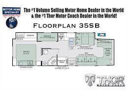 Class C Floor Plans by 2018 Thor Motor Coach Four Winds Super C 35sb Bunk Model W King
