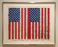 Jasper Johns Three Flags New Orleans Museum Of Art U2013 Towing Silver