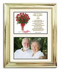 50th anniversary gifts wedding anniversary gift in gold 8x10 frame