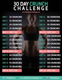 How To Do Challenge 35 Best 30 Day Crunch Challenge Images On Crunch