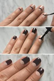 maxusmani half moon manicure using adored respected from the