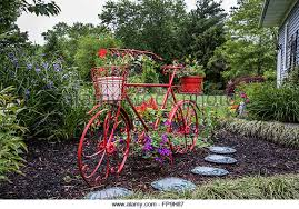 bicycle planter stock photos bicycle planter stock images alamy