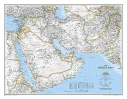 Nat Geo Maps Buy Middle East Sleeved By National Geographic Maps