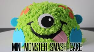 mini monster smash cake youtube