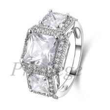 best 3 stone engagement ring settings products on wanelo
