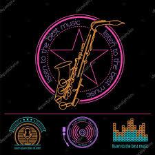 imagenes logos musicales logos de instrumentos musicales y chapas plantilla de gráfico