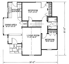 tudor style house plan 2 beds 1 baths 922 sq ft plan 43 103