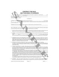 contract for sale and purchase of business