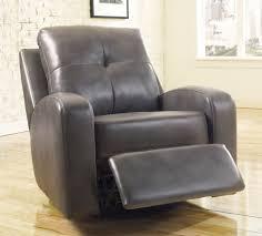 Recliner Swivel Chair Grey Modern Leather Recliner Capricornradio Homescapricornradio Homes