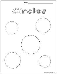 9 best images of circle worksheets for preschool circle tracing