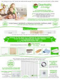 Best Shower Curtain Liner No Mildew Amazon Com Clean Healthy Living Premium Peva Shower Curtain Liner