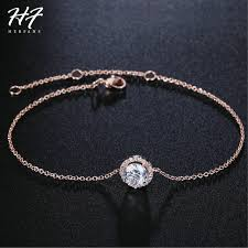 rose gold crystal necklace images Top quality round micro mosaic cz crystal rose gold color bracelet jpg