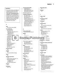volkswagen new beetle repair manual 1998 2010 complete index