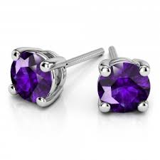 earring studs gemstone earrings sapphire ruby amethyst earring studs