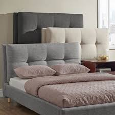 bedroom beige queen padded headboard for modern bedroom