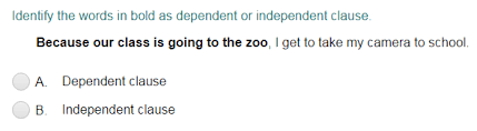 independent and dependent clauses quiz turtle diary