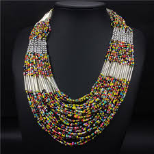 aliexpress bead necklace images Long layered exaggerated bohemia bead necklace ladies accessories jpg