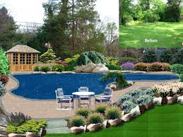 pool garden ideas perth above ground pool landscaping ideas on a