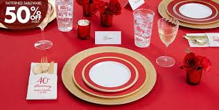 40th anniversary plates ruby 40th wedding anniversary party supplies party city