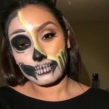 halloween makeup melting skull inspired by desi perkins beauty