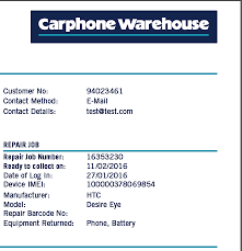 Top Right Repair Tracker Carphone Warehouse Help And Support