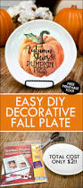 diy pumpkin fall decorative plate under 2 to make