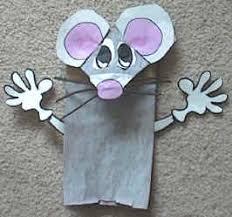 paper bag mouse puppet
