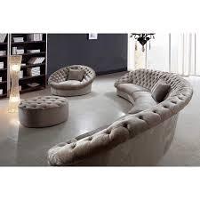 interior deluxe beautiful cream velvet tufted round ottoman