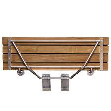 clevr 20 teak modern folding shower seat bench dark wood medical