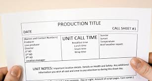 what is a call sheet plus template download u2014 amy clarke films