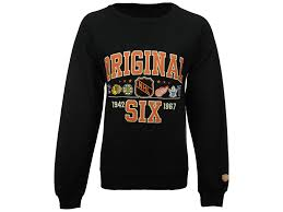 nhl original 6 old time hockey nhl men u0027s daxton raglan crew neck