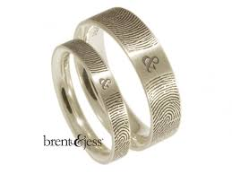 wedding bands world 99 best brent jess fingerprint wedding rings images on
