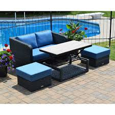Santa Barbara Wicker Patio Furniture - seating sets costco