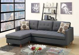 Blue Gray Living Room F7094 Blue Gray Sectional Sofa By Poundex