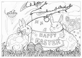 easter coloring pages for adults justcolor