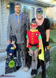 batman family costume batman and robin vs catwoman and two face