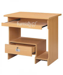 Beech Computer Desk Buy Agaba Computer Desk Table With Single Drawer In Beech Grey